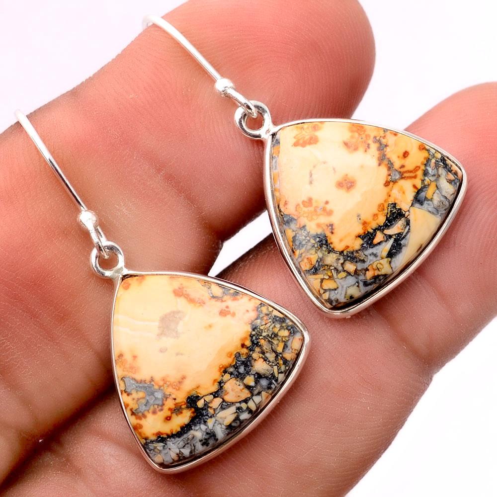 Maligano Jasper - Indonesia 925 Sterling Silver Earrings Jewelry SDE31675