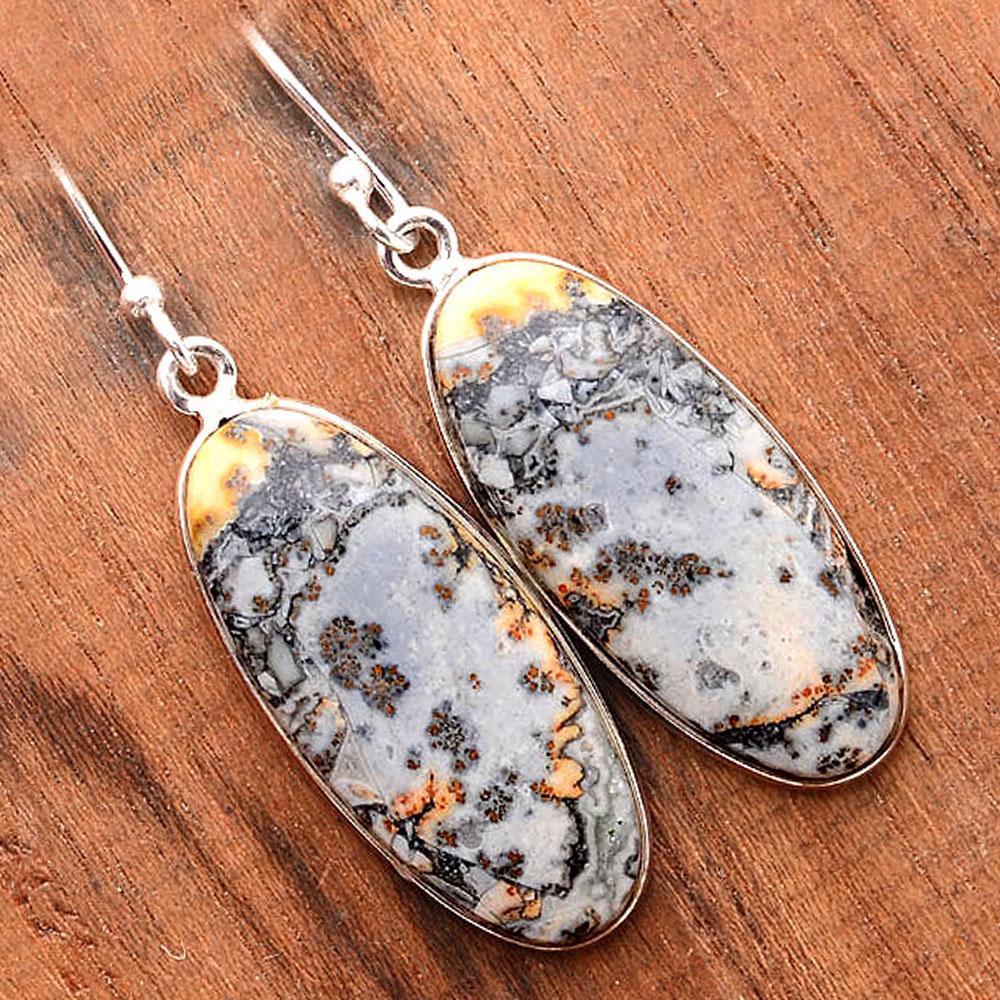 Maligano Jasper - Indonesia 925 Sterling Silver Earrings Jewelry SDE31682