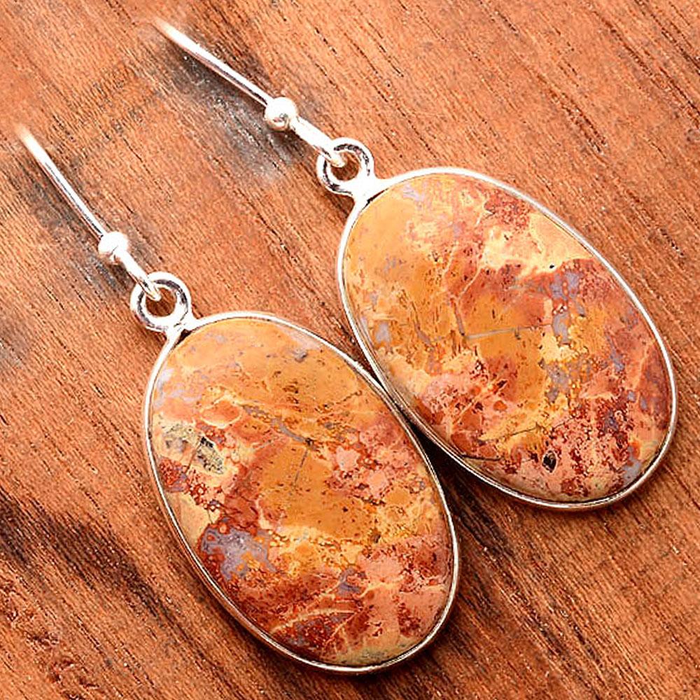 Maligano Jasper - Indonesia 925 Sterling Silver Earrings Jewelry SDE31686