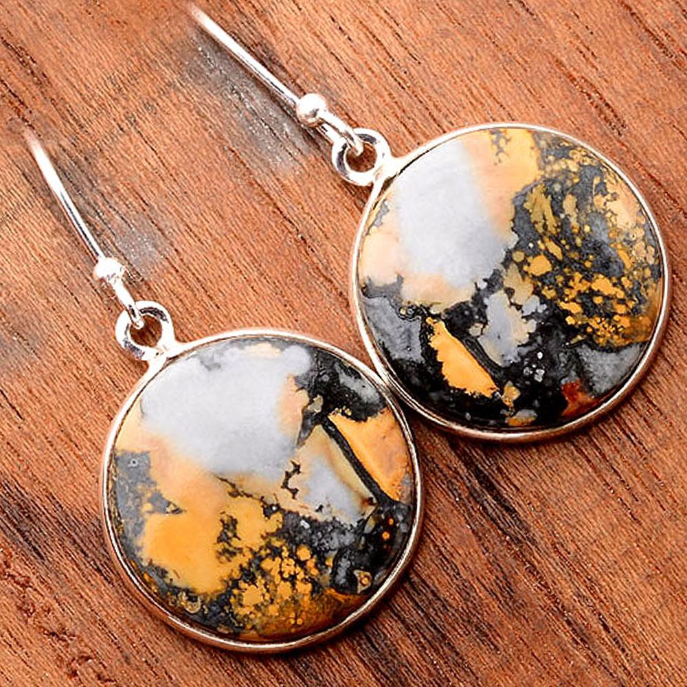 Maligano Jasper - Indonesia 925 Sterling Silver Earrings Jewelry SDE31693