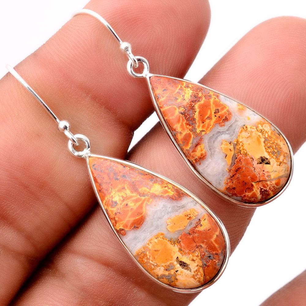 Maligano Jasper - Indonesia 925 Sterling Silver Earrings Jewelry SDE31694