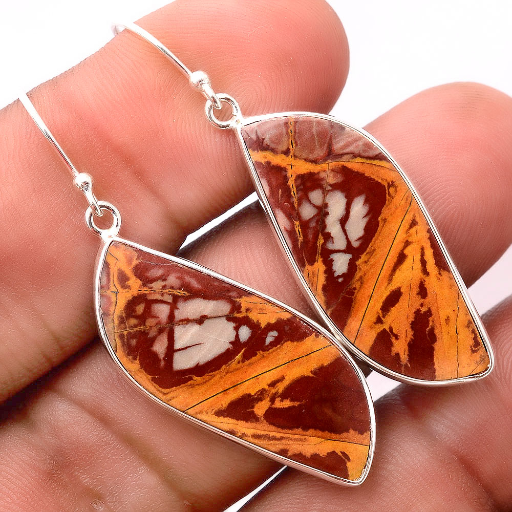 Natural Noreena Jasper - Australia 925 Sterling Silver Earrings Jewelry SDE32418