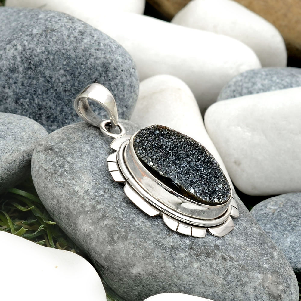 jasper ring handmade jewelry sterling silver jewelry Black onyx Druzy natural stone