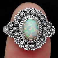 Fire Opal Ring size-7.5 SDR122571