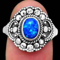 Fire Opal Ring size-8.5 SDR124959