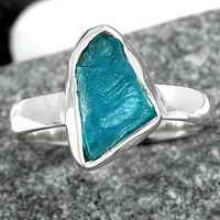 Neon Blue Apatite Ring size-6.5 SDR142559