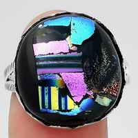 Dichroic Glass Ring size-9.5 SDR145466