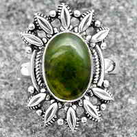 Chrome Chalcedony Ring size-8 SDR147697